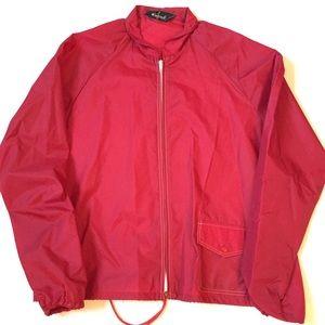 Vintage 80's red windbreaker medium